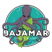 This is the restaurant logo for Bajamar Seafood & Tacos - Blue Diamond