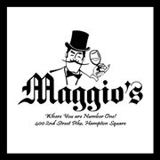 This is the restaurant logo for Maggio's Restaurant Bar & Ballroom