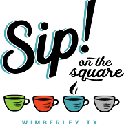 This is the restaurant logo for Sip! On The Square
