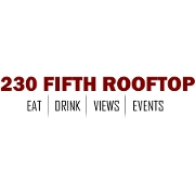 This is the restaurant logo for 230 Fifth Rooftop BAR