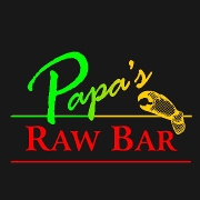 This is the restaurant logo for Papa's Raw Bar