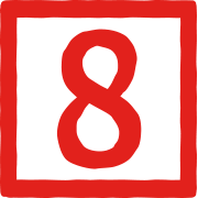 This is the restaurant logo for Barn8