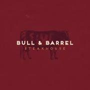 This is the restaurant logo for Bull & Barrel