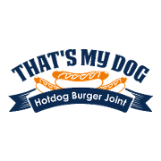 This is the restaurant logo for That's My Dog