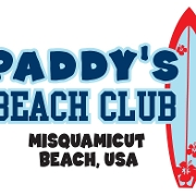 This is the restaurant logo for Paddy's Beach Club