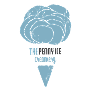 This is the restaurant logo for Penny Ice Creamery