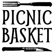 This is the restaurant logo for The Picnic Basket