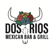 This is the restaurant logo for Dos Rios Mexican Bar & Grill