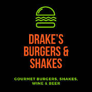 This is the restaurant logo for Drake's Burgers & Shakes