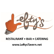 This is the restaurant logo for Lefty's Tavern