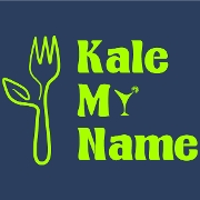 This is the restaurant logo for Kale My Name