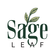 This is the restaurant logo for Sage Leaf