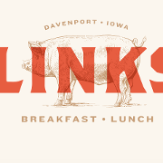 This is the restaurant logo for LINKS