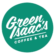 This is the restaurant logo for Green Isaac's Coffee & Tea