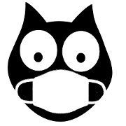 This is the restaurant logo for The Black Cat