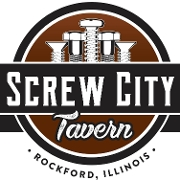 This is the restaurant logo for Screw City Tavern
