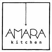 This is the restaurant logo for Amara Kitchen