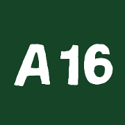 This is the restaurant logo for A16