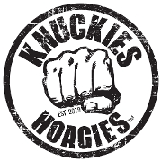This is the restaurant logo for Knuckie's Hoagies