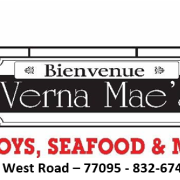 This is the restaurant logo for Verna Mae's - Po-Boys, Seafood & More
