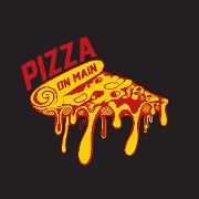This is the restaurant logo for Pizza on Main