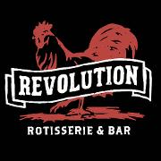 This is the restaurant logo for Revolution Rotisserie