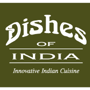This is the restaurant logo for Dishes of India