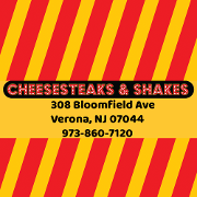 This is the restaurant logo for Cheesesteaks & Shakes