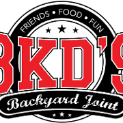 This is the restaurant logo for BKD's Backyard Joint