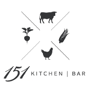 This is the restaurant logo for 151 Kitchen   Bar
