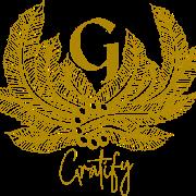 This is the restaurant logo for Gratify Houston