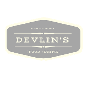 This is the restaurant logo for Devlin's