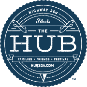 This is the restaurant logo for The Hub