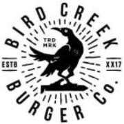 This is the restaurant logo for Bird Creek Burger Company