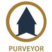 This is the restaurant logo for Purveyor