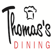 This is the restaurant logo for Thomas's Dining