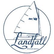 This is the restaurant logo for Landfall Restaurant