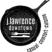 This is the restaurant logo for J. Lawrence Downtown