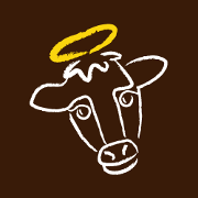 This is the restaurant logo for Holy Cow