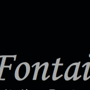 This is the restaurant logo for La Fontaine Restaurant