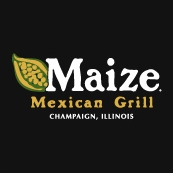 This is the restaurant logo for Maize Mexican Grill