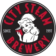This is the restaurant logo for City Steam Brewery