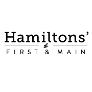 This is the restaurant logo for Hamiltons' At First and Main
