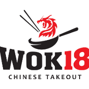 This is the restaurant logo for Wok 18