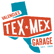 This is the restaurant logo for Valencia's Tex - Mex Garage