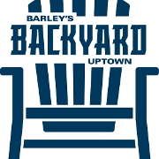 This is the restaurant logo for Barley's Backyard Uptown