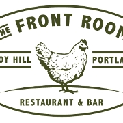 This is the restaurant logo for The Front Room