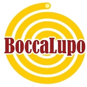 This is the restaurant logo for BoccaLupo