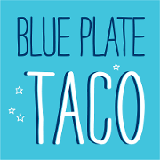 This is the restaurant logo for Blue Plate Taco