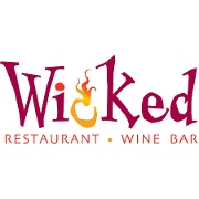 This is the restaurant logo for Wicked Restaurant and Wine Bar